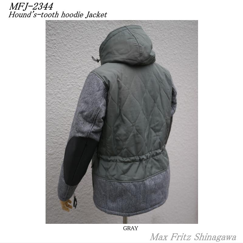 MFJ-2344ハウンドトゥースフーディージャケット
